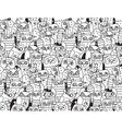 Owls birds group black and white seamless pattern vector image vector image