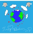 Happy Valentines day Cupid vector image