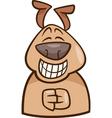 mood green dog cartoon vector image