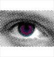 eye halftone dots vector image