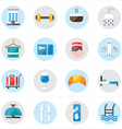 Flat Icons For Hotel Icons and Travel Icons vector image