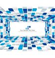 3d checked background vector