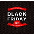 Black Friday Sale design template Red white vector image