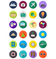 Color round traveling icons set vector image