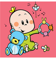 cute baby playing vector image