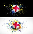 England flag with soccer ball dash on colorful vector image