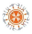 equipment tool and mechanic repair service vector image