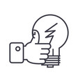 good idea hand with thumb up linear icon sign vector image