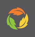 leaf infinity symbol vector image