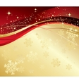 Merry Christmas card with snowflakes vector image