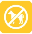 No Pets vector image