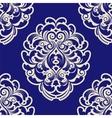 Seamless Blue Damask vector image