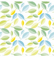 spring colorfull leaves abstract seamless pattern vector image