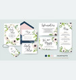 Wedding invite menu rsvp thank you label save vector image