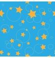 Circle and star seamless pattern vector image