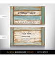 Weathered board business card vector image vector image