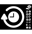 Repeat Clock Icon with Tools Bonus vector image