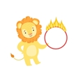 Circus Trained Lion Animal Artist Performing Stunt vector image