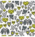 Heart character sketch vector image vector image