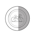 Bike isolated symbol vector image
