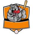 bulldog baseball mascot vector image vector image