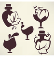 Wine emblems vector image