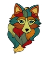 Fox with waves ornament vector image