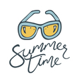 summer time sunglasses vector image