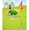 Tortoise golf vector image vector image