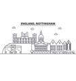 england nottingham architecture line skyline vector image