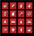 Fire services icons vector image