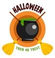 Halloween Badge or Label vector image