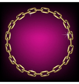 Round gold chain vector image