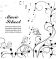singing birds on branch vector image
