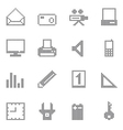 Square office and home icon vector image