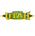 Utah The Beehive State vector image