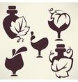 Wine emblems vector image