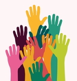 Kids colorful hands vector image