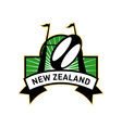 rugby goal post ball new zealand vector image