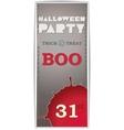 The grey vertical flyer Halloween vector image vector image