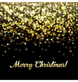 Golden Defocused Merry Christmas Background vector image vector image