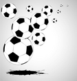 vector abstract soccer background vector image