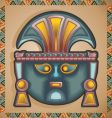Inca mask vector image