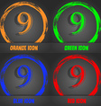 number Nine icon sign Fashionable modern style In vector image