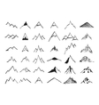 Mountain icons set Hand drawn vector image