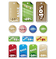 promotion shopping marks and labels vector image