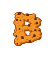 b letter cookies cookie font oatmeal biscuit vector image