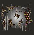 dancing on the pylon vector image