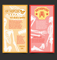 medical orthopedic posters with human bones vector image