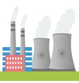 Nuclear power plant design vector image